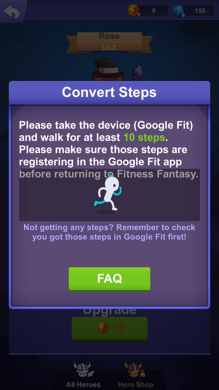 Troubleshooting - Track steps using Google Fit - FAQ - Shikudo